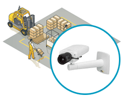 монтаж камер на складе и на производстве